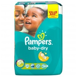 Pack 48 Couches Pampers Baby Dry de taille 5+