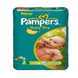 Pack 48 Couches de Pampers Baby Dry de taille 2 sur 123 Couches