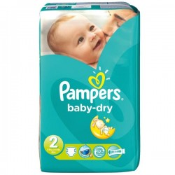 Pack 35 Couches Pampers de la gamme Baby Dry de taille 2 sur 123 Couches