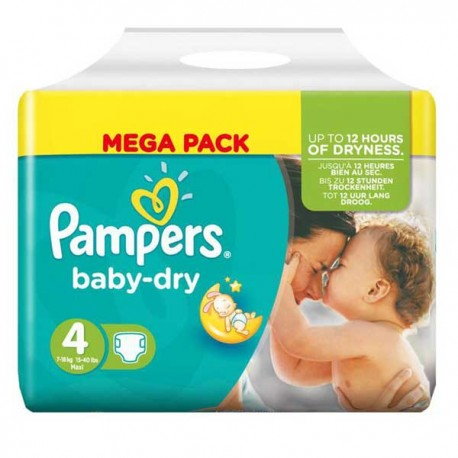Pack 44 Couches Pampers Baby Dry taille 4 sur 123 Couches