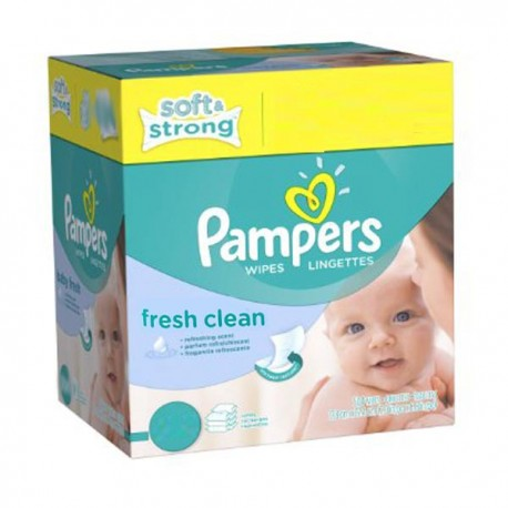 Lingettes Bebe Pampers Fresh Clean 384 Lingettes Bebe Sur 123couches
