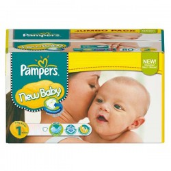 Maxi Pack 172 Couches Pampers de la gamme New Baby Dry de taille 1