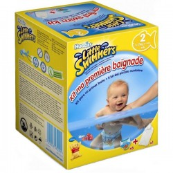 Pack d'une quantité de 6 Couches de bains Huggies Mini taille 2 sur 123 Couches
