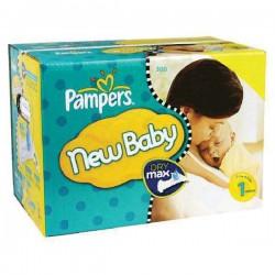 Pack économique de 300 Couches de la marque Pampers New Baby de taille 1 sur 123 Couches