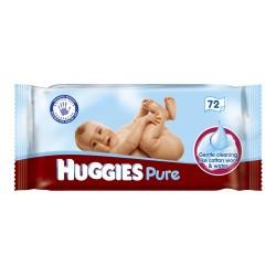 Pack 72 Lingettes Bébés Huggies Pure sur 123 Couches