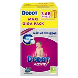 Pack économique 348 Couches de la marque Dodot Activity taille 3 sur 123 Couches