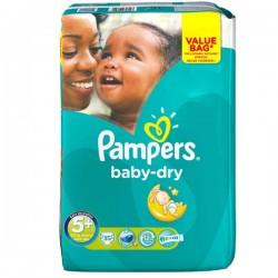 Pack de 35 Couches Pampers de la gamme Baby Dry de taille 5+