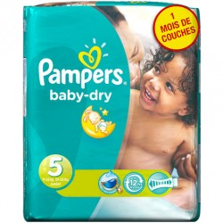 Pack de 41 Couches Pampers de la gamme Baby Dry taille 5 sur 123 Couches