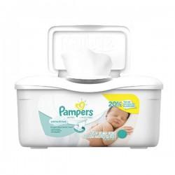 Pack d'une quantité de 56 Lingettes Bébés de Pampers Sensitive sur 123 Couches