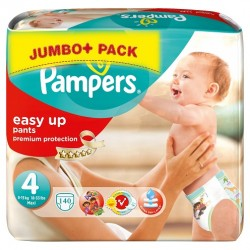 Pack économique 140 Couches Pampers Easy Up taille 4 sur 123 Couches