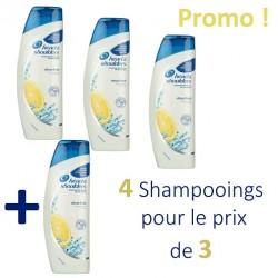 Pack 4 Shampooings Head & Shoulders Antipelliculaire Citrus Fresh - 4 au prix de 3 sur 123 Couches
