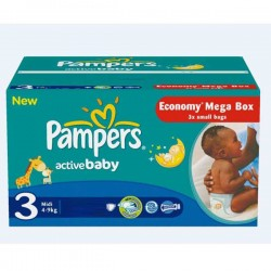 Pack 192 Couches Pampers Active Baby taille 3