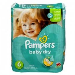 Pack d'une quantité de 33 Couches de la marque Pampers Baby Dry taille 6