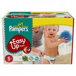 Pack d'une quantité de 168 Couches de Pampers Easy Up de taille 5 sur 123 Couches