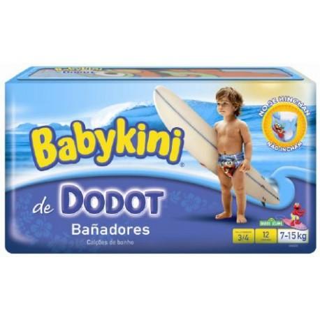 Pack d'une quantité de 12 Couches de bains Dodot de la gamme Maillot de bain taille 4 sur 123 Couches
