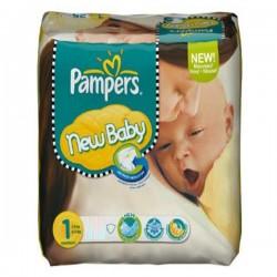 Pack économique de 301 Couches Pampers de la gamme New Baby Dry de taille 1 sur 123 Couches