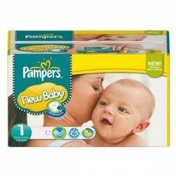 Pack économique de 301 Couches Pampers de la gamme New Baby Dry de taille 1