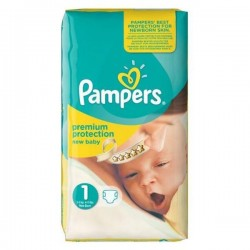Pack 45 Couches Pampers New Baby de taille 1 sur 123 Couches