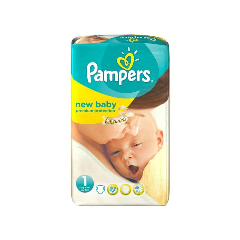 Couches pampers new baby taille 1 moins cher 27 couches sur 123couches - Couche pampers new baby taille 2 ...