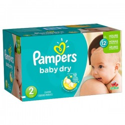 Maxi Pack 252 Couches de la marque Pampers Baby Dry taille 2 sur 123 Couches