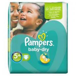 Pack de 41 Couches Pampers Baby Dry taille 5+ sur 123 Couches