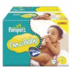 Pack d'une quantité de 296 Couches de Pampers New Baby taille 1 sur 123 Couches