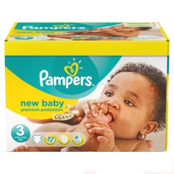 Pack de 29 Couches Pampers New Baby de taille 3 sur 123 Couches
