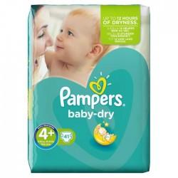 Pack d'une quantité de 41 Couches Pampers Baby Dry taille 4+