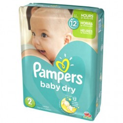 Pack 42 Couches de Pampers Baby Dry taille 2 sur 123 Couches