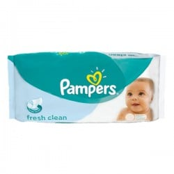 Pack de 64 Lingettes Bébés Pampers Fresh Clean sur 123 Couches