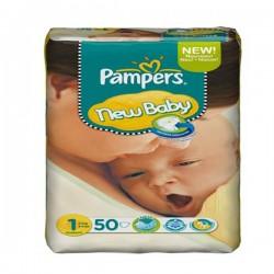 Pack d'une quantité de 50 Couches de la marque Pampers New Baby taille 1 sur 123 Couches