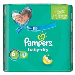 Pack 38 Couches Pampers Baby Dry 6+ sur 123 Couches