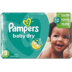 Pack d'une quantité de 70 Couches Pampers Baby Dry taille 3