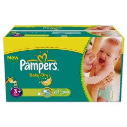 Giga Pack de 476 Couches Pampers Baby Dry taille 3+