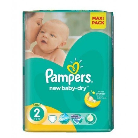 Couches Pampers New Baby Dry Taille 2 à Petit Prix 80 Couches Sur