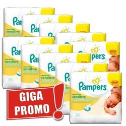 Pack économique de 1000 Lingettes Bébés Pampers de la gamme New Baby Sensitive sur 123 Couches