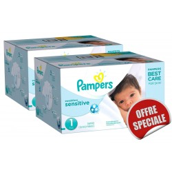 Maxi Giga Pack Jumeaux 507 Couches de la marque Pampers New Baby Sensitive taille 1