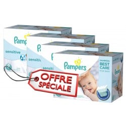 Maxi Giga Pack Jumeaux de 540 Couches Pampers New Baby Sensitive taille 2 sur 123 Couches