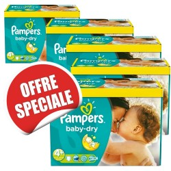 Maxi giga pack jumeaux 1008 Couches Pampers de la gamme Baby Dry taille 4+ sur 123 Couches