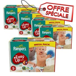 Maxi Giga Pack Jumeaux 912 Couches de Pampers Easy Up de taille 5 sur 123 Couches