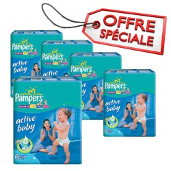 Maxi Giga Pack Jumeaux de 648 Couches Pampers Baby Dry taille 6 sur 123 Couches
