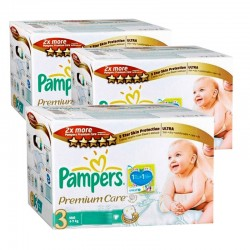 Giga pack de 336 Couches de Pampers Premium Care Pants de taille 3 sur 123 Couches