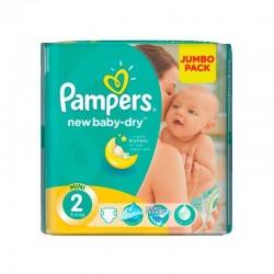 Pack d'une quantité de 68 Couches Pampers New Baby Dry de taille 2 sur 123 Couches