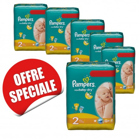 Maxi pack jumeaux 952 Couches Pampers de la gamme New Baby Dry de taille 2 sur 123 Couches