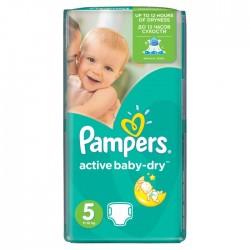 Pack 28 Couches de la marque Pampers Active Baby Dry de taille 5 sur 123 Couches