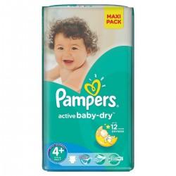 Paquet 32 Couches de Pampers Active Baby Dry de taille 4+ sur 123 Couches
