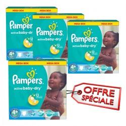 Giga pack jumeaux de 742 Couches de la marque Pampers Active Baby Dry taille 4+ sur 123 Couches