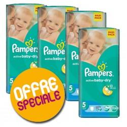 Paquet économique 252 Couches Pampers Active Baby Dry 5 sur 123 Couches