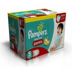 Pack économique 210 Couches Pampers Baby Dry Pants taille 5 sur 123 Couches