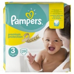 Pack 29 Couches Pampers Premium Protection 3